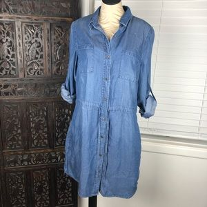 Kenneth Cole Reaction Chambray Dress Large
